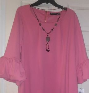 Gorgeous mauve/pink dress.  3X